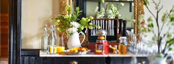 """<p><a href=""""https://www.tripadvisor.com/Hotel_Review-g57201-d3382673-Reviews-Made_INN_Vermont_an_Urban_Chic_Bed_and_Breakfast-Burlington_Vermont.html"""" rel=""""nofollow noopener"""" target=""""_blank"""" data-ylk=""""slk:Made Inn Vermont, an Urban-Chic Boutique B&B"""" class=""""link rapid-noclick-resp"""">Made Inn Vermont, an Urban-Chic Boutique B&B</a> in Burlington</p><p>""""This isn't your typical bed & breakfast fare. You get a hearty and delicious breakfast with food like coconut pancakes, crème brûlée French toast, eggs cooked with your choice of a bunch of cheeses, maple bacon ... etc. And you get some HUGE mimosas to start your day off right.<span class=""""redactor-invisible-space"""">"""" - Yelp user <a href=""""https://www.yelp.com/user_details?userid=fG-OBYEvrL85DteB4mLp-w"""" rel=""""nofollow noopener"""" target=""""_blank"""" data-ylk=""""slk:Caitlin R."""" class=""""link rapid-noclick-resp"""">Caitlin R.</a></span></p>"""