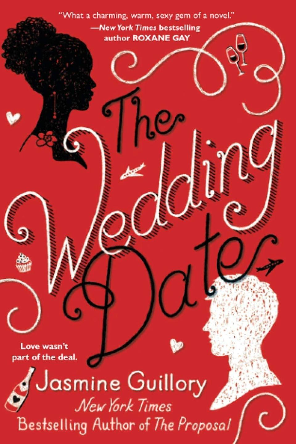 """<p><span><strong>The Wedding Date</strong> by Jasmine Guillory</span> ($8) starts when Alexa and Drew find themselves stuck in an elevator together and she agrees to be his date and fake girlfriend for his ex's <a class=""""link rapid-noclick-resp"""" href=""""https://www.popsugar.co.uk/Wedding"""" rel=""""nofollow noopener"""" target=""""_blank"""" data-ylk=""""slk:wedding"""">wedding</a> the next day. Turns out, they have so much fun together that they decide to continue a casual fling after their whirlwind weekend, even if it means going long-distance.</p> <p>This story reminds me a lot of the 2010 film <strong>Going the Distance</strong> (RIP <a class=""""link rapid-noclick-resp"""" href=""""https://www.popsugar.co.uk/Drew-Barrymore"""" rel=""""nofollow noopener"""" target=""""_blank"""" data-ylk=""""slk:Drew Barrymore"""">Drew Barrymore</a> and <a class=""""link rapid-noclick-resp"""" href=""""https://www.popsugar.co.uk/Justin-Long"""" rel=""""nofollow noopener"""" target=""""_blank"""" data-ylk=""""slk:Justin Long"""">Justin Long</a>), as Alexa and Drew spend steamy weekends together in between navigating their respective jobs in different cities. In fact, I can already see a montage of their weekend dates playing out on screen! This book is unrelated to the 2005 film of the same name, which, if you haven't seen, I also recommend!</p>"""