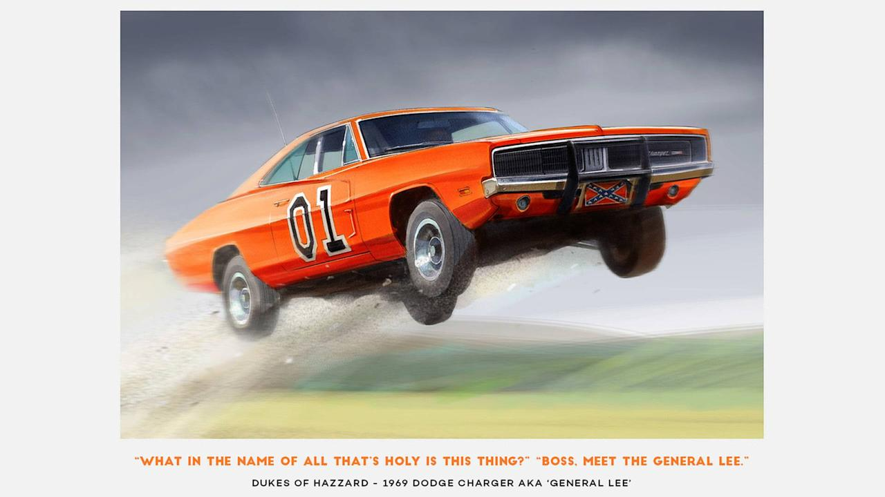 Why would someone call their Dodge Charger General Lee? Beats us but they're the Dukes of Hazzard that's what we know. This vehicle is so iconic in fighting cop cars a live version of the TV show was set up in Virginia last year. However iro