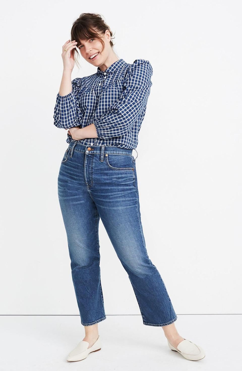 <p>These bestselling <span>Madewell Slim Demi-Boot Jeans</span> ($51, originally $128) are so flattering.</p>