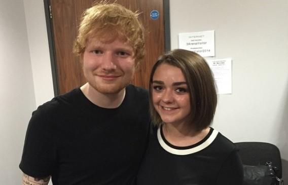 Ed Sheeran and GOT's Maisie Williams