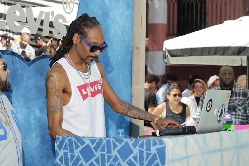 Snoop Dogg at Levi's in the Desert 2019 Coachella party in Indian Wells, CA (Photo: Levi's)