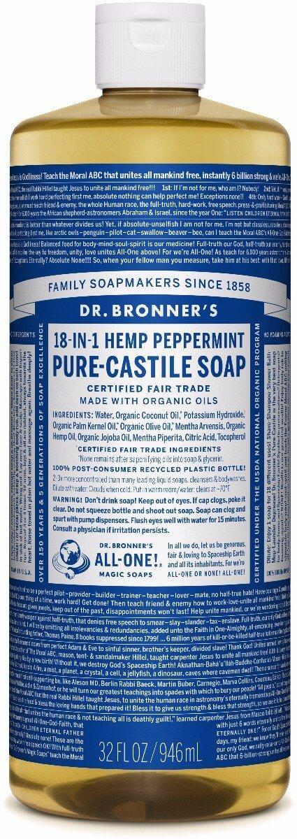"""<h3>Dr. Bronner's Pure-Castile Liquid Soap<br></h3><br>""""Dr. Bronner's is great! It's not actually a Trader Joe's-branded product, but we do sell it and it works really well to clean almost anything."""" — Mike in Oregon"""