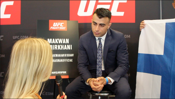 Jade Morris caught up with UFC Featherweight Makwan Amirkhani ahead of UFC Liverpool