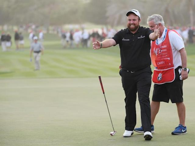 Shane Lowry holds off Richard Sterne to win HSBC Championship in Abu Dhabi