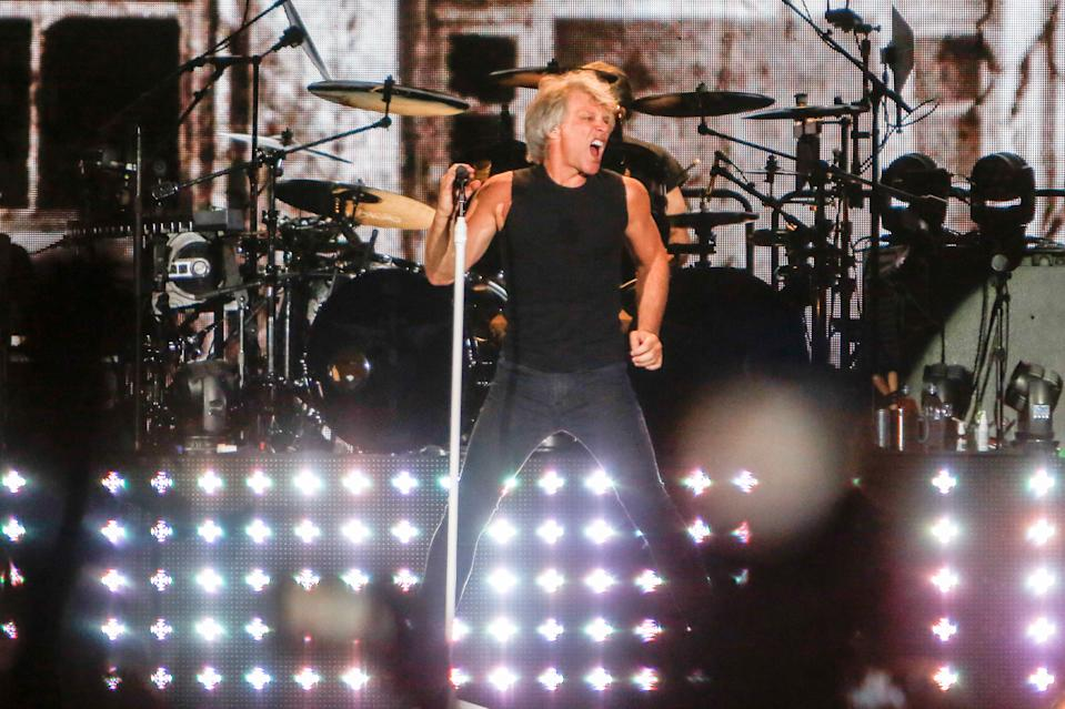 MADRID, SPAIN - JULY 07: Bon Jovi performs on stage on July 07, 2019 in Madrid, Spain. (Photo by Ricardo Rubio/Europa Press via Getty Images)(Photo by Europa Press News/Europa Press via Getty Images)