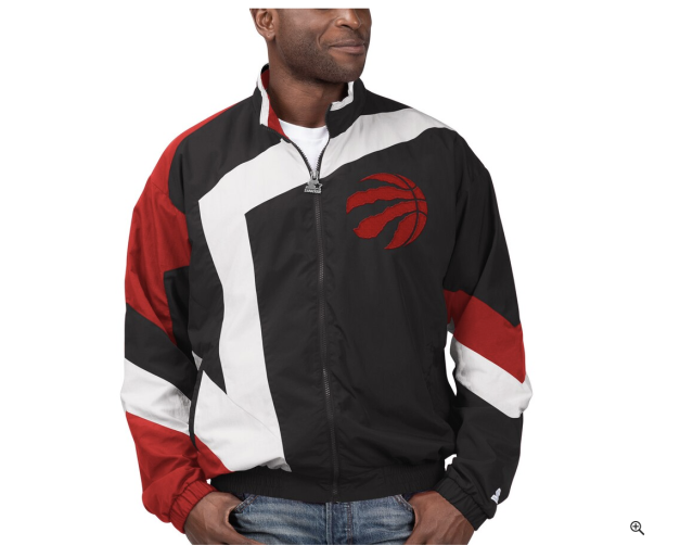 (Men's Starter Black Toronto Raptors The Star Vintage - Full-Zip Jacket)
