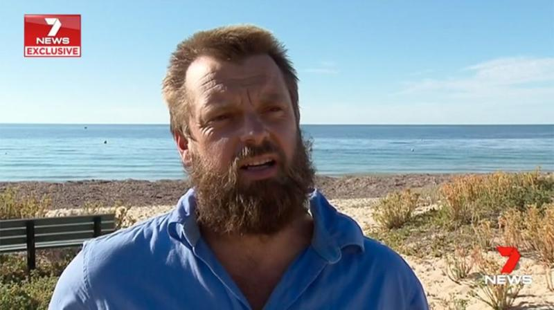 Surfer Adam Kennedy says the shark which attacked Mr Travaglini went for him three or four times. Source: 7 News