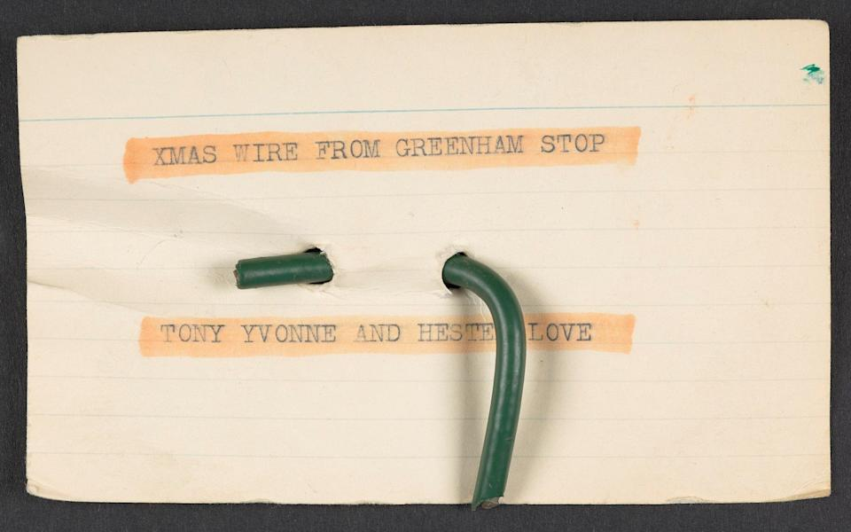 Fence wire from Greenham Common - The British Library Board