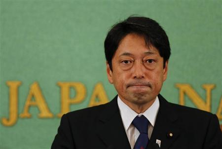 Japan's Defence Minister Onodera attends a news conference at the Japan National Press Club in Tokyo