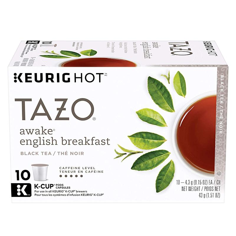 Tazo K-Cup Pods, Awake English Breakfast Black Tea. (Photo: Amazon)
