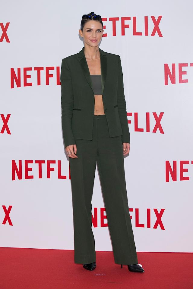 <p>Another day, another amazing suit modelled by Miss Rose. [Photo: Getty] </p>
