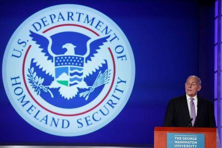 "Secretary of Homeland Security John Kelly speaks at an event entitled ""Home and Away: Threats to America and the DHS Response"" at George Washington University"