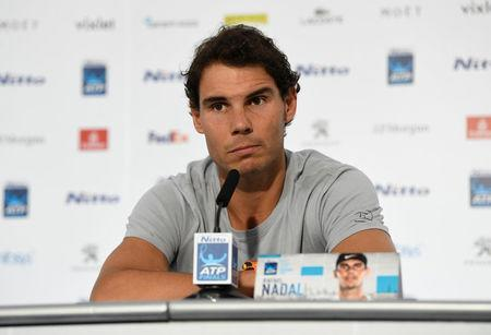 Tennis - ATP World Tour Finals Preview - The O2 Arena, London, Britain - November 10, 2017 Spain's Rafael Nadal during the press conference ahead of the ATP World Tour Finals Action Images via Reuters/Tony O'Brien