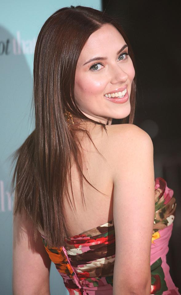 """<a href=""""http://movies.yahoo.com/movie/contributor/1800022348"""">Scarlett Johansson</a> at the Los Angeles premiere of <a href=""""http://movies.yahoo.com/movie/1809932969/info"""">He's Just Not That Into You</a> - 02/02/2009"""