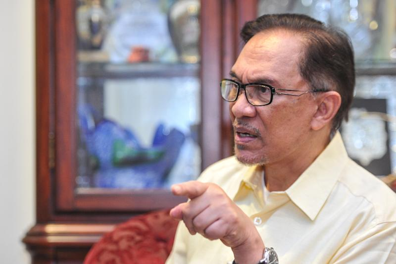 Anwar added that the level of corruption uncovered by the 1MDB investigations is 'mind boggling'. — Picture by Shafwan Zaidon
