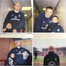 <p>Here's one of the young Three Lions with some of his old Man United heroes. </p>