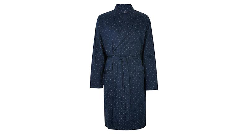 Big & Tall Pure Cotton Dressing Gown