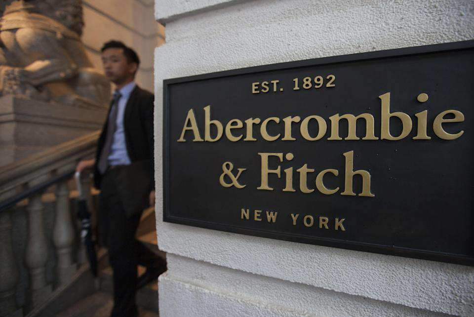 A Man Leaves the Hong Kong Flagship Store of Abercrombie & Fitch in Central District in Hong Kong China 23 November 2016 the Store Announced on 18 November 2016 That It Will Close Down in 2017 Two Years Before the End of Its Lease As It Can No Longer Afford to Pay the 7 000 000 Hong Kong Dollar (848 510 Euro) Per Month Rent - a Rent That is Reportedly More Than Double what the Previous Tenant in the Same Store was Paying in 2014 According to Reports Property Agents Said Rents For Street Level Stores in Hong Kong's Central Business District Have Dropped by 50 to 70 Percent From Their Peak in 2014 the Sharp Drop is Due to the Slowdown in the Number of Tourists From Mainland China Visiting the City For Luxury Shopping However Locals Are Optimistic That the Drop in Ground Floor Retail Rents Will Allow For Local Stores to Re-enter the Market Paying Lower Rents and Catering Towards the Needs of Hong Kong People by Selling Cheaper Goods and Services China Hong KongChina Hong Kong Property - Nov 2016