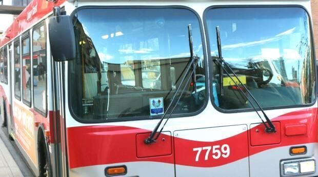 The Max Purple bus rapid transit service, or Route 307, has been extended to the City of Chestermere, on Calgary's eastern boundary. (Evelyne Asselin/CBC - image credit)