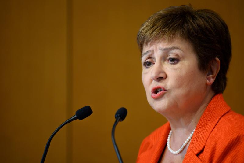 Managing Director of the International Monetary Fund (IMF) Kristalina Georgieva speaks on new research on the financial services sector and its impact on income inequality, in Washington, DC, on January 17, 2020. (Photo by JIM WATSON / AFP) (Photo by JIM WATSON/AFP via Getty Images)