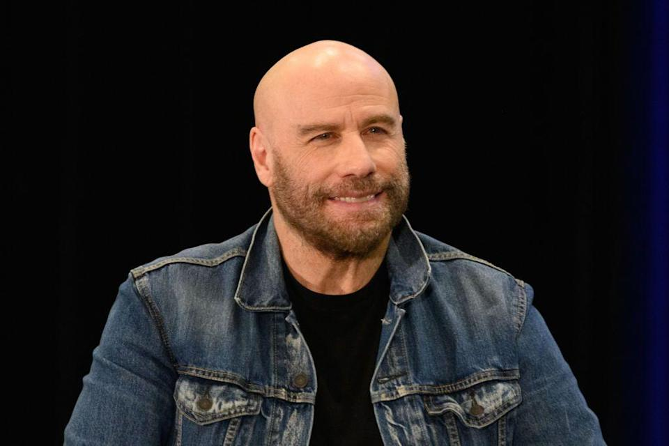 <p><strong>As seen on John Travolta</strong></p><p>For newly bald guys like Travolta, a completely hairless head can be a little jarring. Letting your stubble grow is a way to soften the look and make it look more rugged. It also helps soften the Mr. Clean effect and make it look more like an aesthetic choice (even if it's not). Use a trimmer to cut the stubble, but not completely remove it, every few days but also make sure to keep your cheeks and neck lines defined.</p>