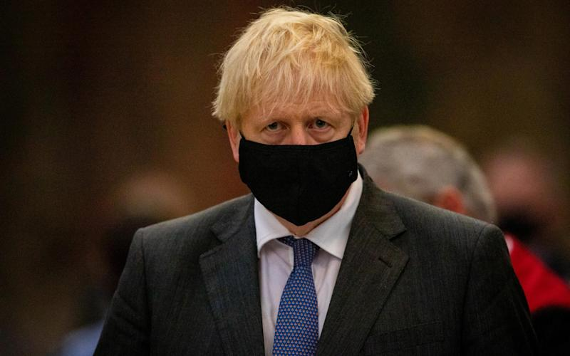 Boris Johnson yesterday - Reuters