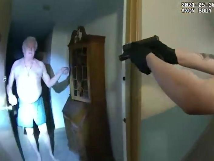 Police body camera footage of a 75-year-old being tasered (Idaho Police Department/Washington Post)