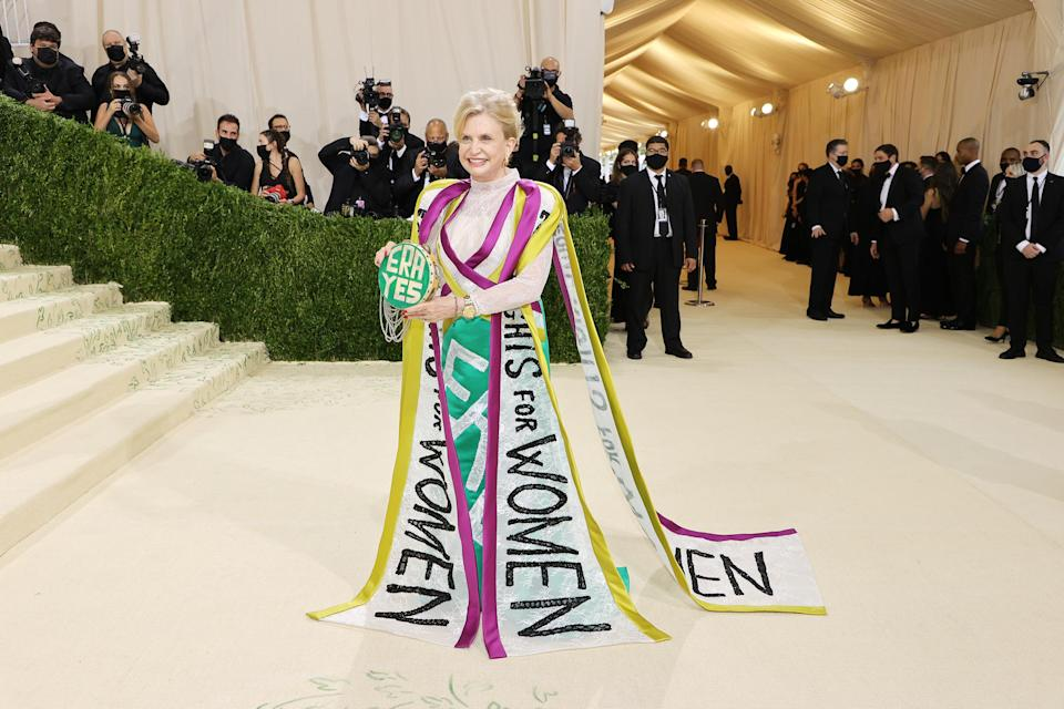 Carolyn Maloney 2021 Met Gala  (Mike Coppola / Getty Images)