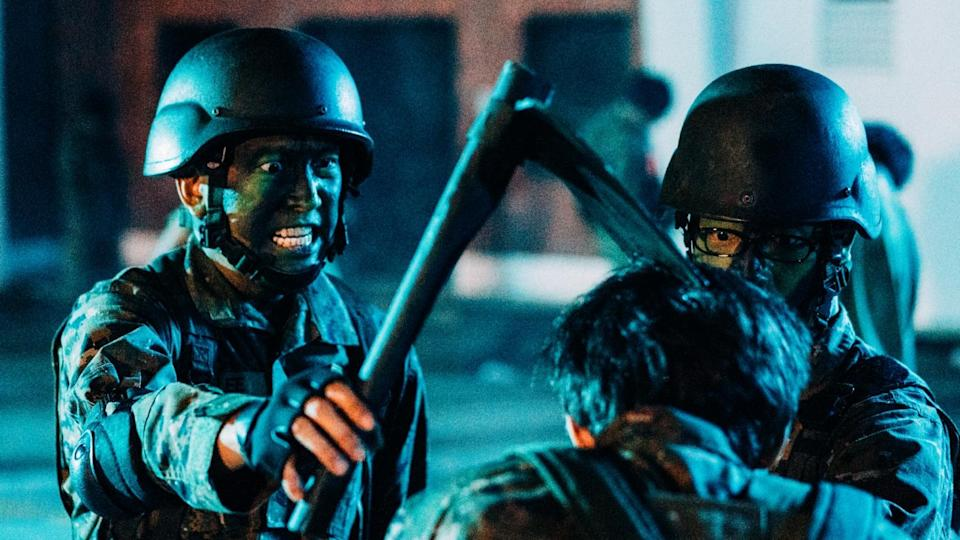 """(From left) Benjamin Heng and Alaric Tay play an undead-fighting duo in """"Zombiepura"""". (PHOTO: Clover Films)"""
