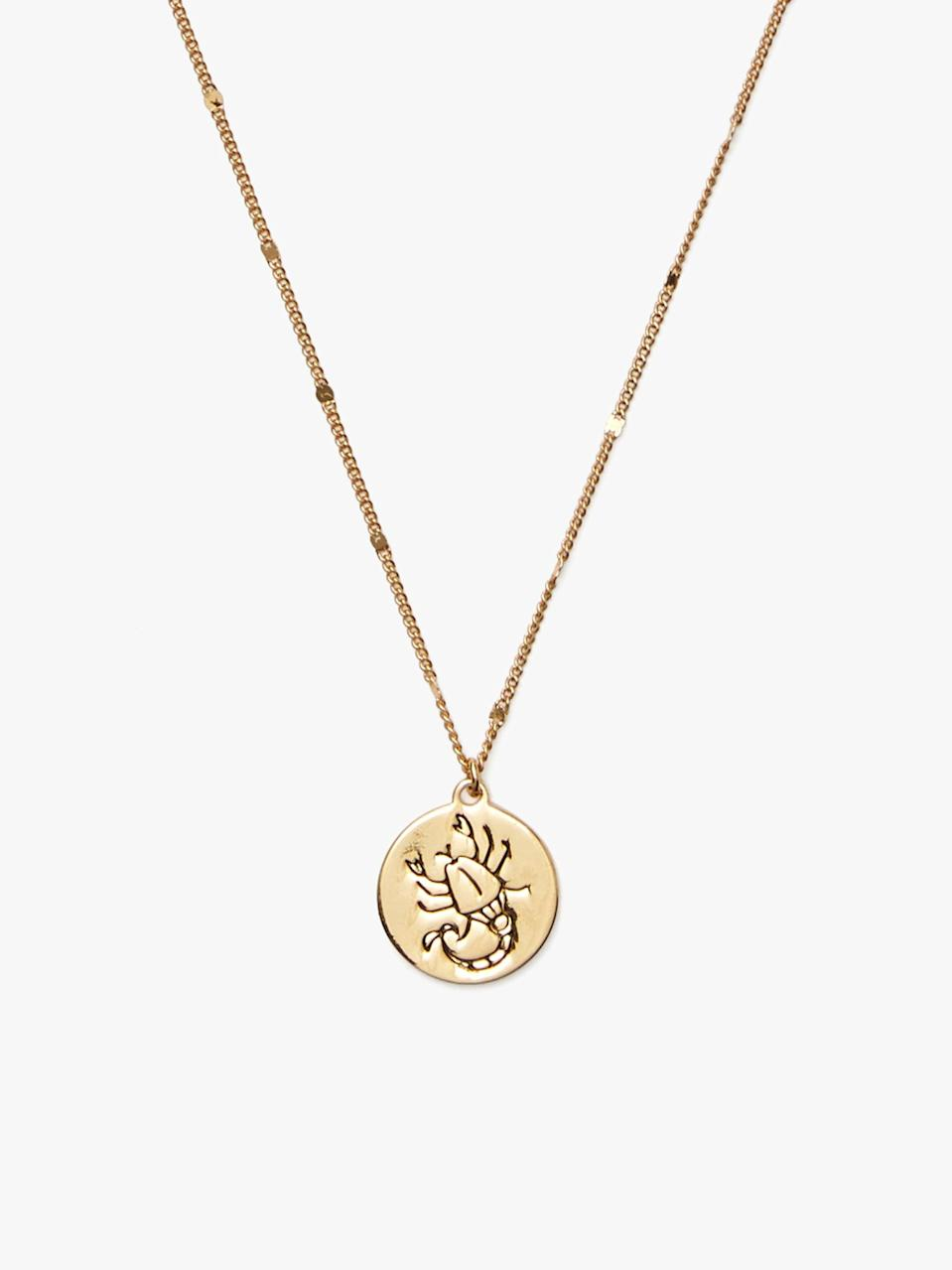 <p>A Scorpio doesn't like to wear their heart on their sleeve. They prefer it around their neck, and will love rocking this <span>Kate Spade In The Stars Scorpio Pendant</span> ($48).</p>