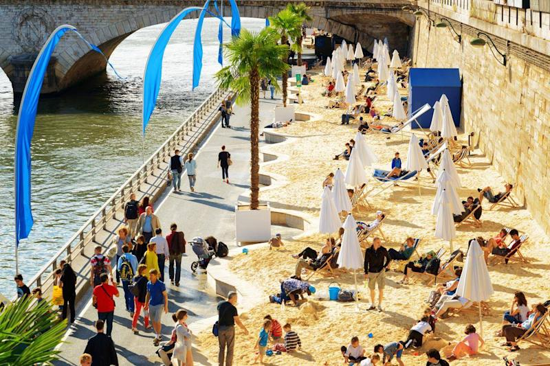Paris Plage, a free riverside beach event, is now in its 15th year (Getty)