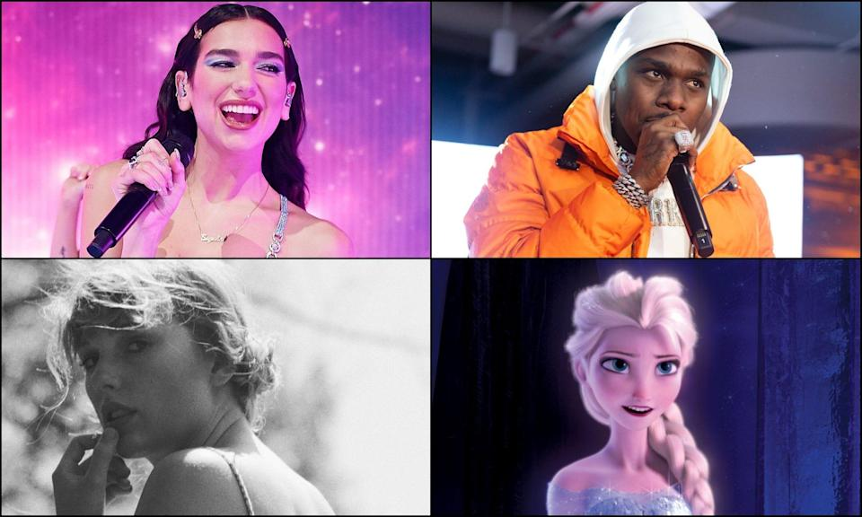 What did the USA TODAY Entertainment staff listen to the most in 2020? Here's a look at our Spotify Wrapped, including Dua Lipa, Roddy Ricch, Taylor Swift and 'Frozen'.