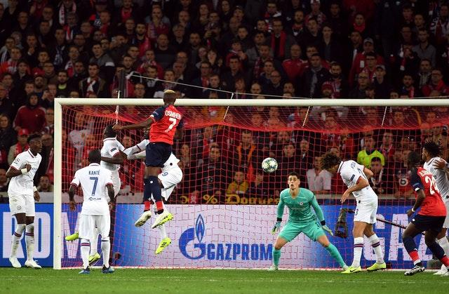 Victor Osimhen pegged Chelsea back in Lille (Joe Giddens/PA)