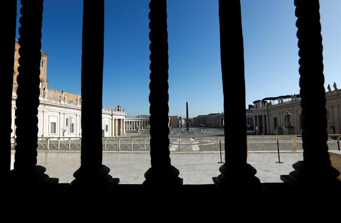 Image: Saint Peter's Square a day before the Vatican releases its long-awaited report into disgraced ex-U.S. Cardinal Theodore McCarrick, at the Vatican (Remo Casilli / Reuters)