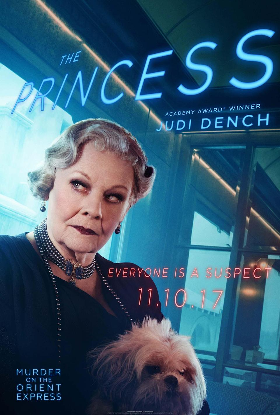 "<p>The Dame portrays a Russian who, Branagh says, ""plays at being helpless but makes you feel there is more to her than meets the eye.""</p>"