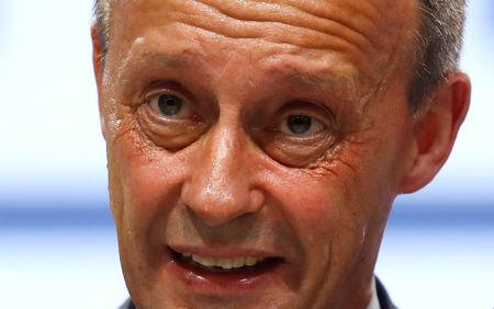 FILE PHOTO: Friedrich Merz at the Christian Democratic Union party congress in Hamburg, Germany