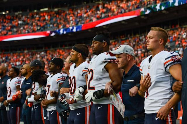 The NFL heads into a new season without a formal anthem policy. (Getty)