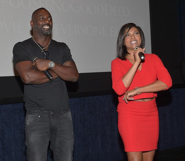 LOS ANGELES, CA - AUGUST 26: Actors Idris Elba and Taraji P.Henson attend The L.A. Special Screening Of Screen Gems' 'No Good Deed' at Regal Cinemas L.A. Live on August 26, 2014 in Los Angeles, California. (Photo by Charley Gallay/Getty Images for Screen Gems)