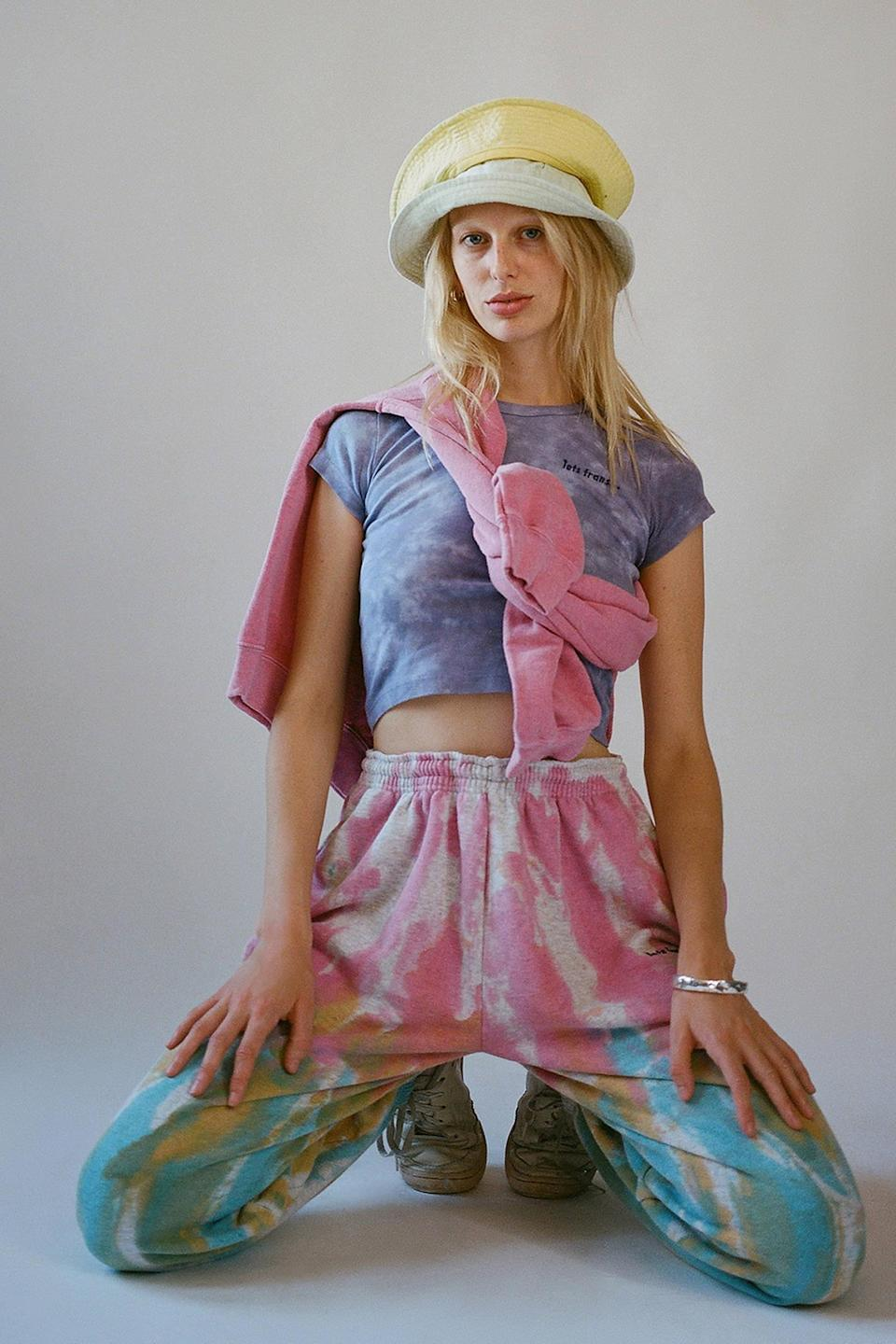 """Meet <a href=""""https://www.refinery29.com/en-us/2020/07/9941485/iets-frans-urban-outfitters-tie-dye-loungewear"""" rel=""""nofollow noopener"""" target=""""_blank"""" data-ylk=""""slk:iets frans..."""" class=""""link rapid-noclick-resp"""">iets frans...</a>: Urban Outfitter's affordable line of ultra-cool sportswear. <br> <br> <strong>iets frans</strong> Tie-Dye Jogger Pant, $, available at <a href=""""https://go.skimresources.com/?id=30283X879131&url=https%3A%2F%2Fwww.urbanoutfitters.com%2Fshop%2Fiets-frans-tie-dye-jogger-pant2%3Fcategory%3DSHOPBYBRAND%26color%3D066%26type%3DREGULAR%26quantity%3D1"""" rel=""""nofollow noopener"""" target=""""_blank"""" data-ylk=""""slk:Urban Outfitters"""" class=""""link rapid-noclick-resp"""">Urban Outfitters</a>"""