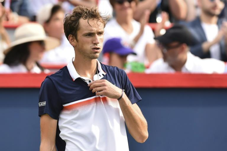 No answer: Russia's Daniil Medvedev on the way to a lopsided loss to Rafael Nadal in the ATP Montreal Masters final (AFP Photo/Minas Panagiotakis)