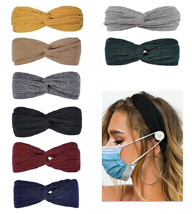 Huachi Headbands with Button for Mask for Nurses (Photo: Amazon)