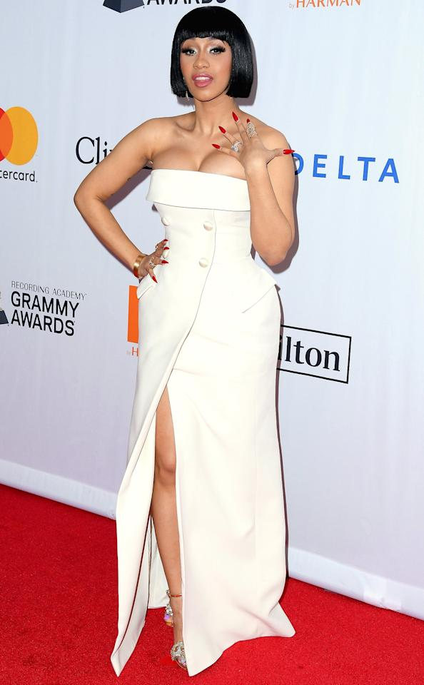 """""""Well, one positive thing [about fame] is that, my family, <a href=""""http://people.com/style/cardi-b-cr-fashion-book-magazine-cover/"""">whatever they want, they get</a>. Everything that I want to buy, I can get. I don't have to worry so much about my future. One negative thing is that, even though I'm happy, I feel like I was a little bit happier two or three years ago when I had less money. I had less people who had opinions about my life. I felt like my life was mine. Now I feel like I don't even own my life. I feel like the world owns me."""""""