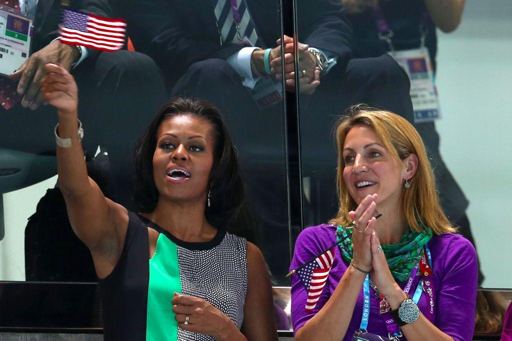Our @SummerSanders_ has some pretty good seats at the #London2012 #Olympics (yea, she's sitting next to @MichelleObama)
