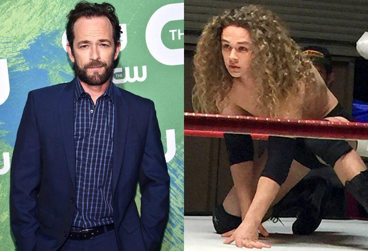 Luke Perry's son, Jack, at right, is a wrestler. (Photo: Getty Images/Pro Wrestling Sheet)