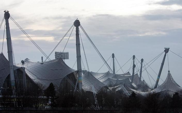 The Munich Olympic stadium was designed by German architect Frei Otto, who passed away on March 9, 2015 (AFP Photo/John MacDougall)