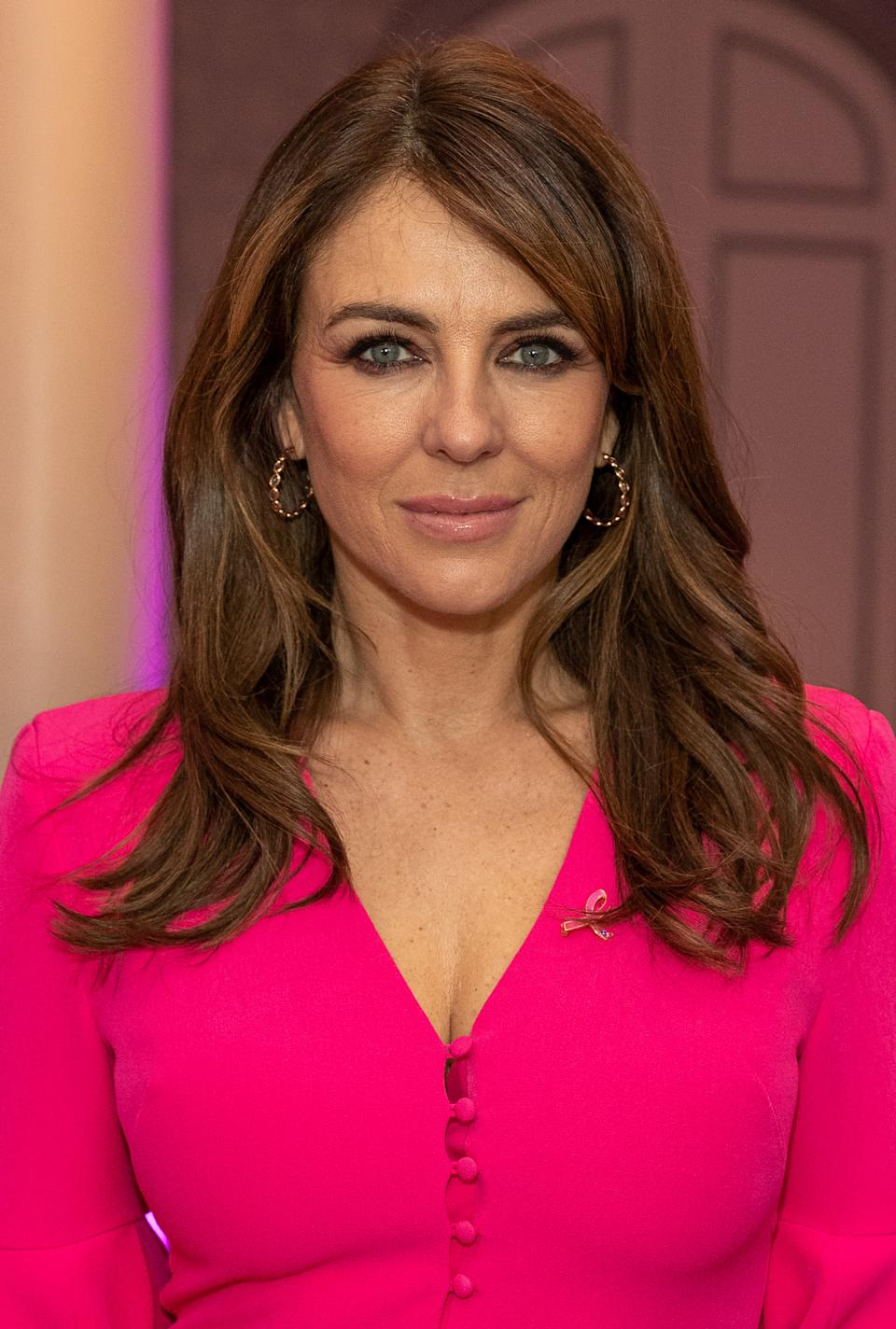 LONDON, ENGLAND - OCTOBER 07: Elizabeth Hurley attends the Future Dreams Ladies Lunch 2019 supported by Estee Lauder at The Savoy Hotel on October 7, 2019 in London, England. (Photo by David M. Benett/Dave Benett/Getty Images)