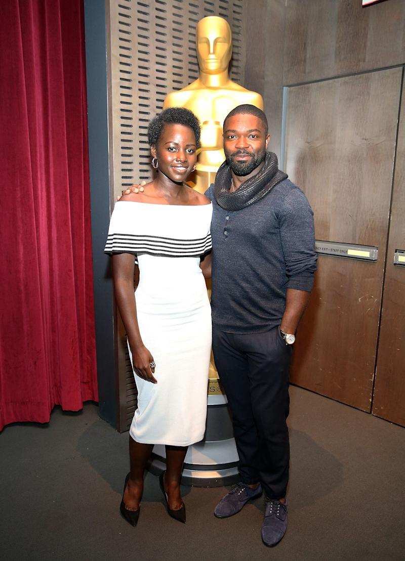 Lupita Nyong'o and David Oyelowo attend a screening of Queen of Katwe on September 25, 2016 in New York City.