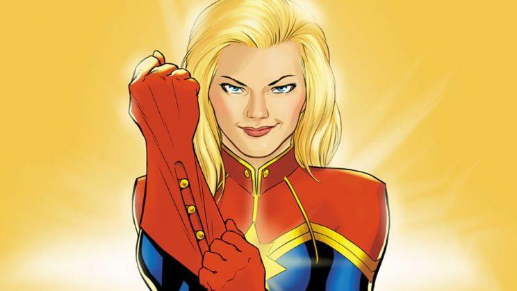 Captain Marvel, comic book style