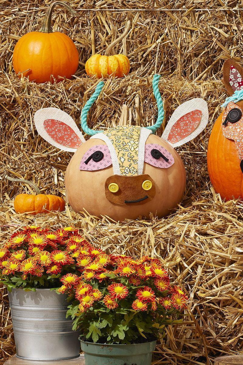 """<p>Admit it: A Jack-o'-lantern or two just doesn't have the same punch as a completely decked-out patio, which is why 2021 should be the year you go all out on your outdoor Halloween decorations. Doing it <em>big</em> is the best way to ensure that each and every kid in the neighborhood will want to take a peek at the festive exterior of your spooked-out home. (And hey, outdoing the neighbors never hurt!)</p><p>We're here to help you step it up a notch with more traditional options (think: standard <a href=""""https://www.thepioneerwoman.com/home-lifestyle/decorating-ideas/g33077562/fall-porch-decor-ideas/"""" rel=""""nofollow noopener"""" target=""""_blank"""" data-ylk=""""slk:fall porch décor"""" class=""""link rapid-noclick-resp"""">fall porch décor</a>, black cat cutouts, ghost wreaths, and spooky signage), advanced DIYs, and <a href=""""https://www.thepioneerwoman.com/home-lifestyle/crafts-diy/g33534123/pumpkin-craft-ideas/"""" rel=""""nofollow noopener"""" target=""""_blank"""" data-ylk=""""slk:pumpkin crafts"""" class=""""link rapid-noclick-resp"""">pumpkin crafts</a>. Best of all, each of the projects we're sharing is inexpensive, simple to craft, and so fun to look at. Take, for instance, the """"witch crash"""" door wreath: It's bound to have all the neighbors talking—but it's still easy enough to pull off. </p><p>Don't want to go the scary route? Check out some of Ree Drummond's favorite out-of-the-box <a href=""""https://www.thepioneerwoman.com/holidays-celebrations/g32223401/pumpkin-decorating-ideas/"""" rel=""""nofollow noopener"""" target=""""_blank"""" data-ylk=""""slk:pumpkin decorating ideas"""" class=""""link rapid-noclick-resp"""">pumpkin decorating ideas</a> for your porch—floral prints look great on everything! And don't miss our best <a href=""""https://www.thepioneerwoman.com/home-lifestyle/decorating-ideas/g32451174/fall-decor-ideas/"""" rel=""""nofollow noopener"""" target=""""_blank"""" data-ylk=""""slk:fall décor ideas"""" class=""""link rapid-noclick-resp"""">fall décor ideas</a> and <a href=""""https://www.thepioneerwoman.com/home-lifestyle/crafts-diy/g32237865/h"""